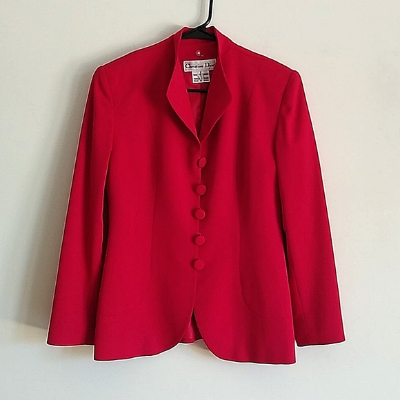 Christian Dior Red Blazer 8
